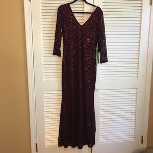Garnet Evening Gown